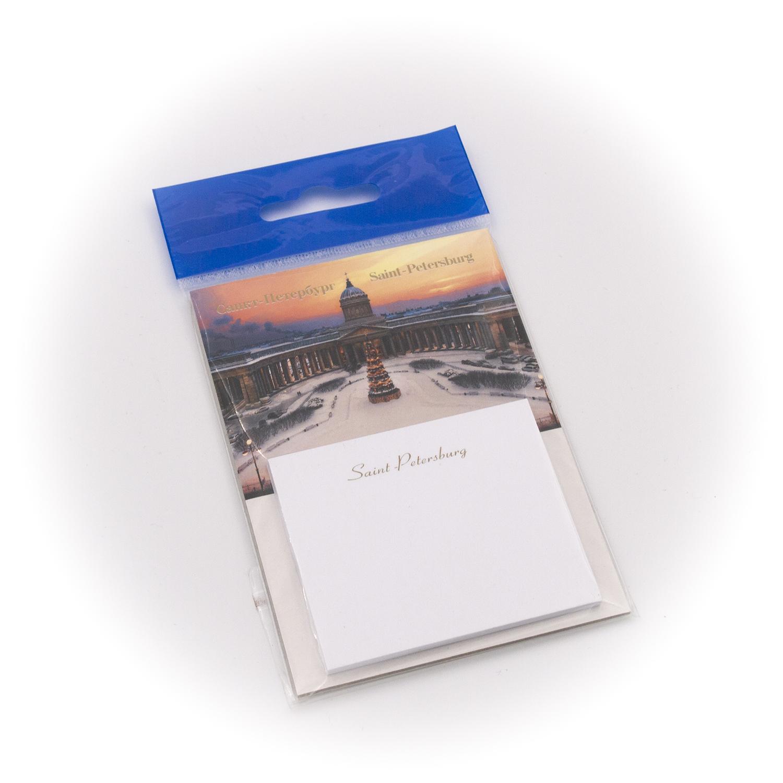 Бумага для заметок С Минимакс Казанский собор. Зима. Оранжевый закат, 32 бумага для заметок с минимакс медный всадник зима 32