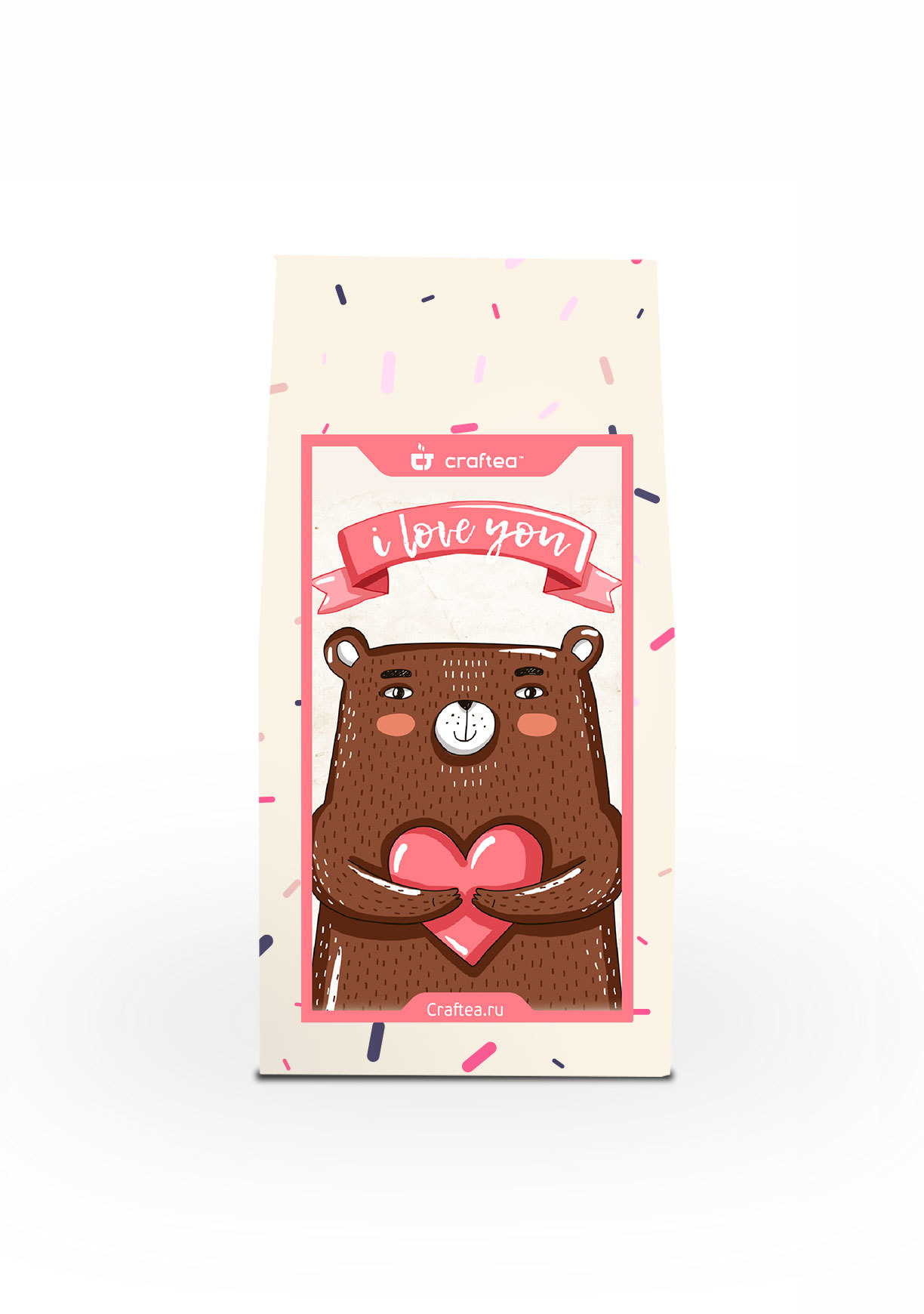 Чай листовой CrafTea Love bear, 50 подарочный чайный набор craftea honey
