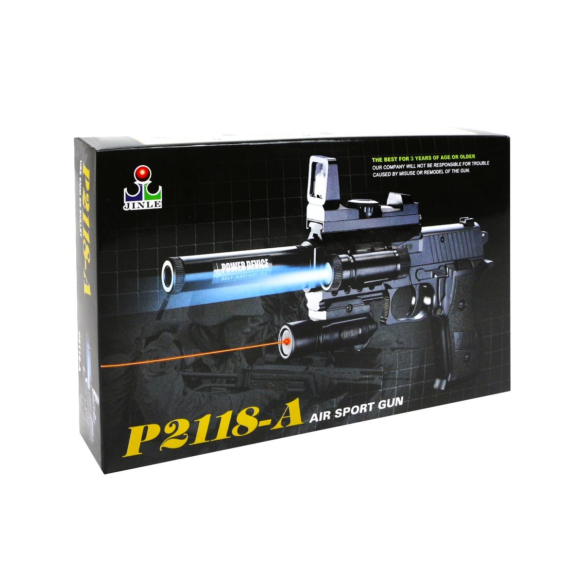 Пистолет игрушечный JT TOYS Р2118-А/ черный