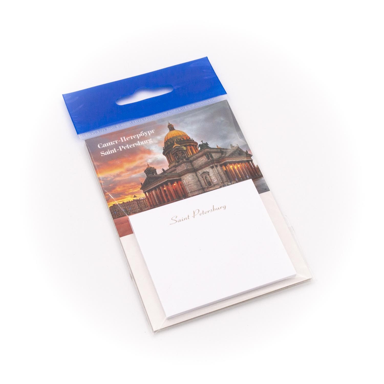 Бумага для заметок С Минимакс Исаакиевский собор. красный закат, 32 цена и фото
