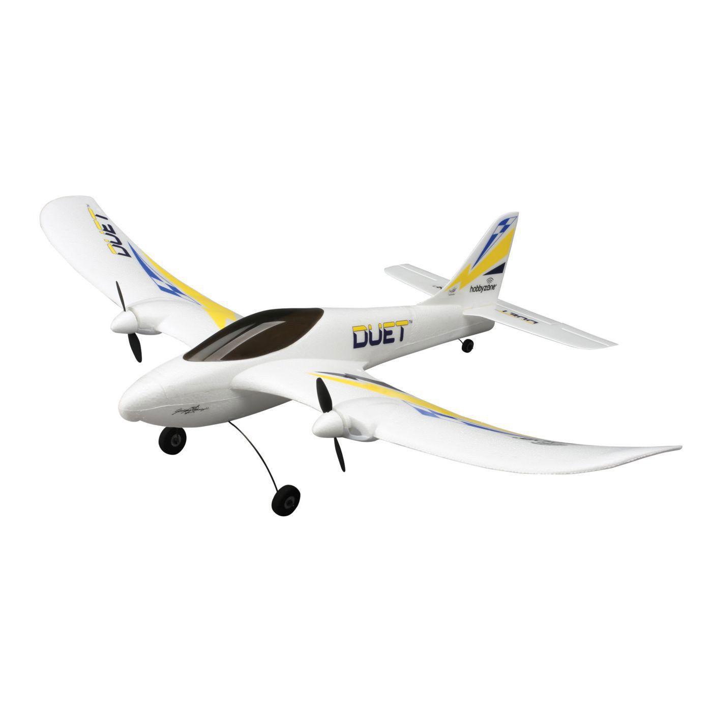Самолет для начинающих HobbyZone Duet RTF радиоуправляемый самолет hobbyzone delta ray технология safe