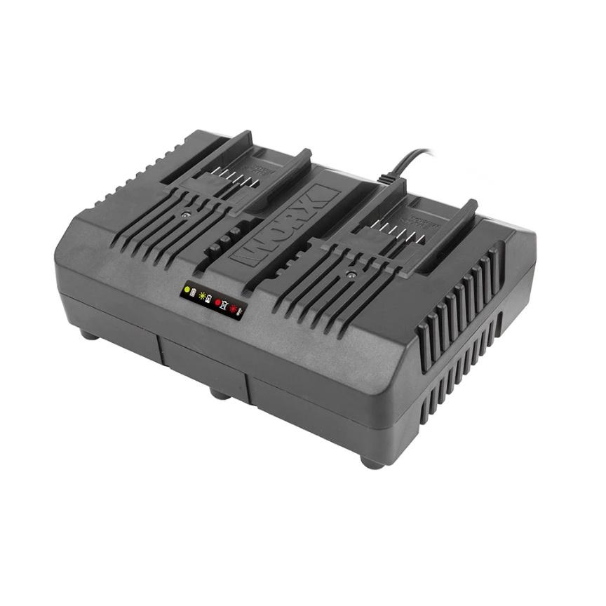 лучшая цена Зарядное устройство для аккумуляторов WORX WA3883, черный