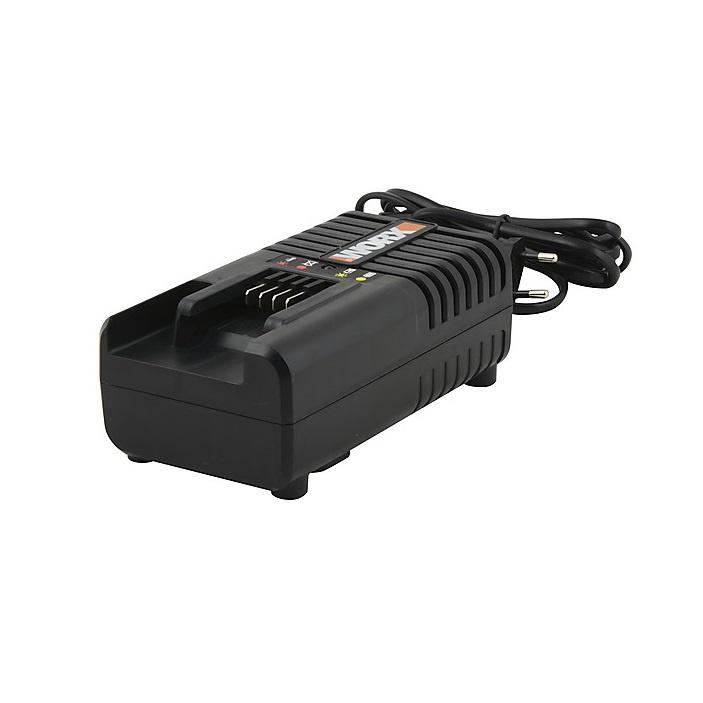 Зарядное устройство для аккумуляторов WORX WA3880, черный