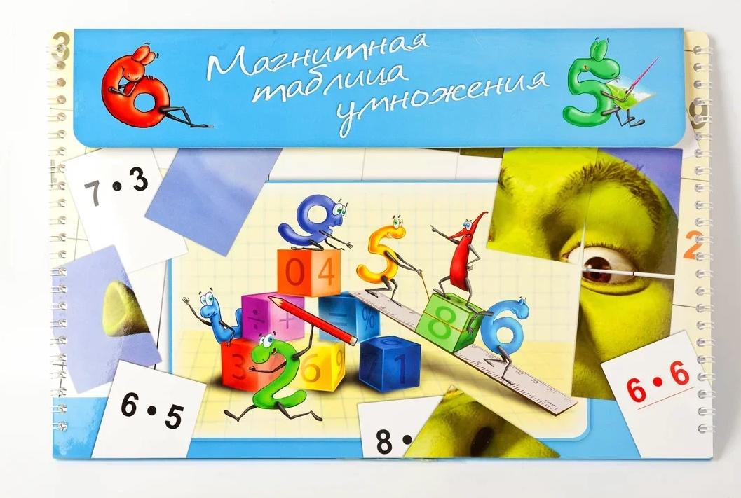 Обучающая игра Русские магниты Магнитная таблица умножения  Богатыри