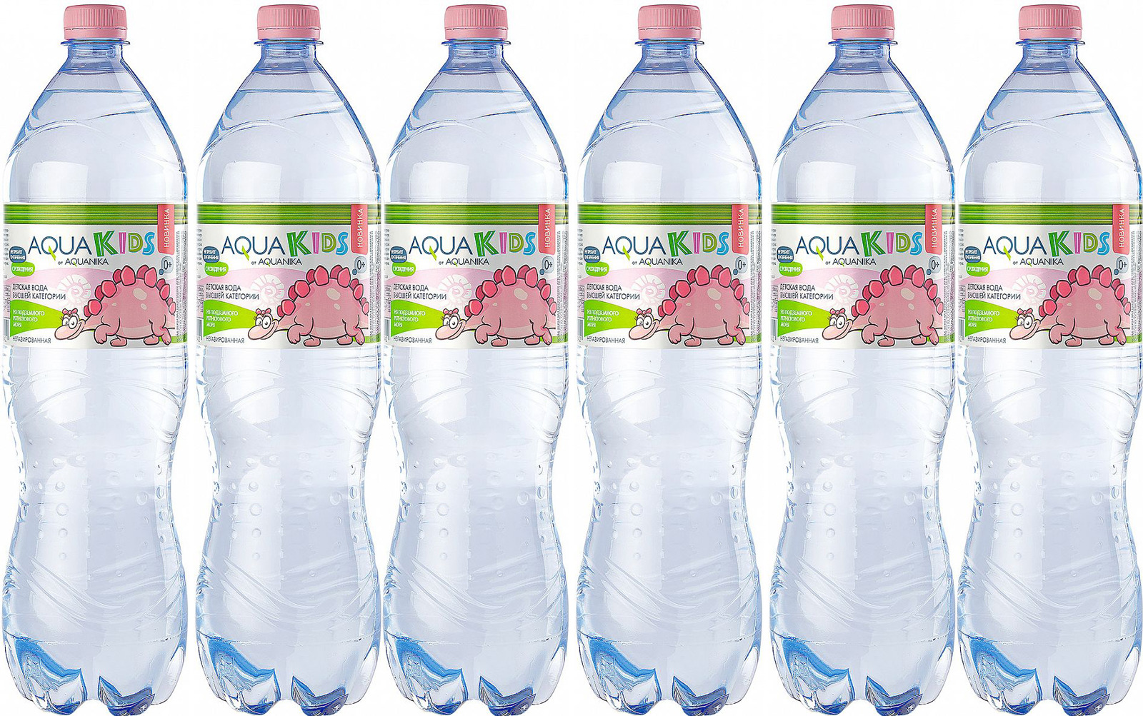 Вода Акваника высшей категории негазированная детская, 6 шт по 1,5 л акваника вода негазированная 5 л