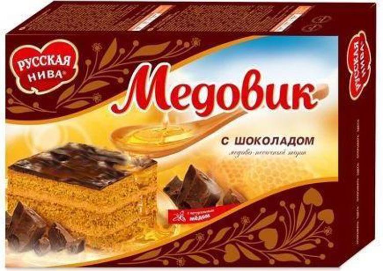 Торт песочный Русская Нива Медовик с шоколадом, 420 г запчасти шеви нива fam1