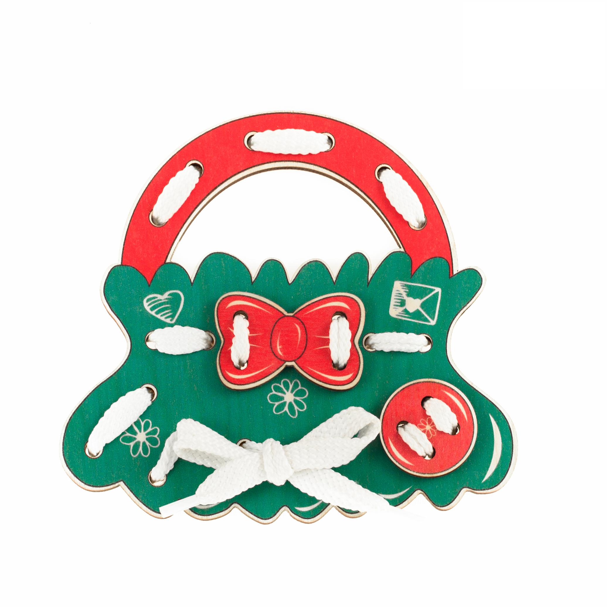 Шнуровка Анданте Д475а красный, зеленый