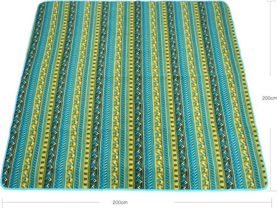 Коврик для пикника KingCamp PicnicBlanket, KG4703, голубой, желтый, зеленый, 200 х 200 х 1 см цена
