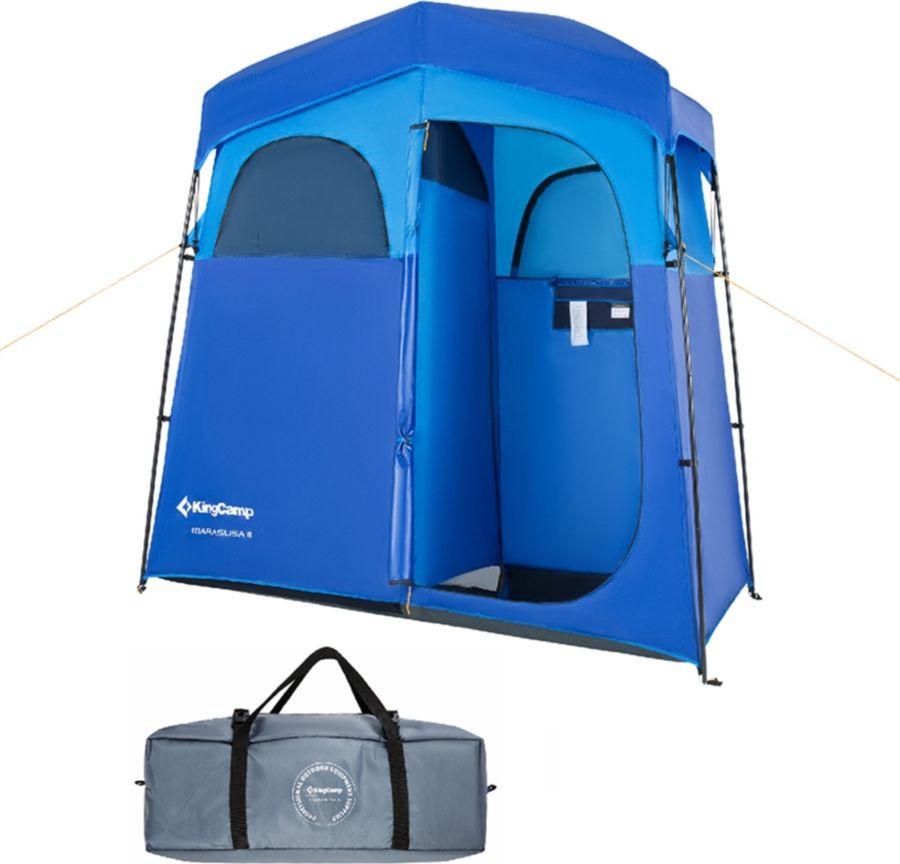 Тент-баня KingCamp Marasusa 2, KT4025, синий, 213 х 106 х 210 см сноутьюб кхл тент тент с камерой 80 x 80 x 40 см
