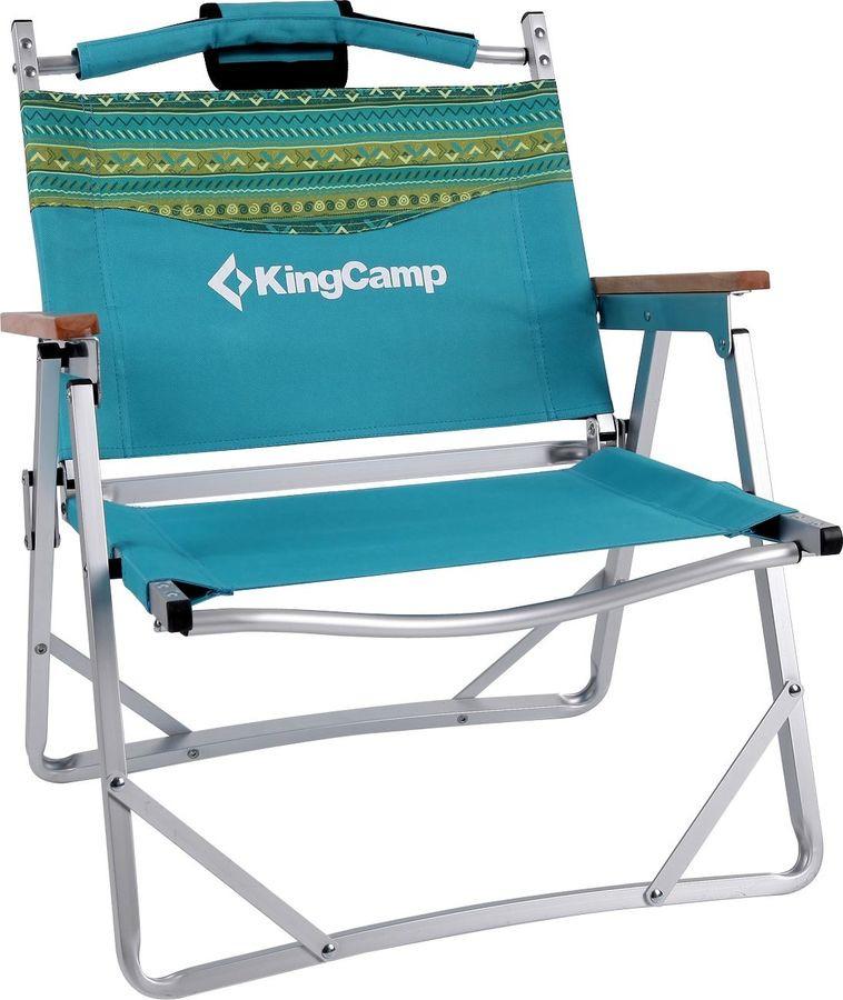 Кресло раскладное KingCamp Beach Armchair Fantasy, KC7009, бирюзовый, 65 х 55 х 34/66 см кресло складное kingcamp