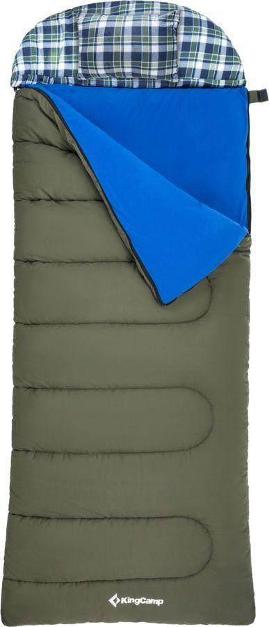 Спальный мешок KingCamp Forest 400, KS3152, правосторонняя молния, зеленый, 230 х 90 х 7 см