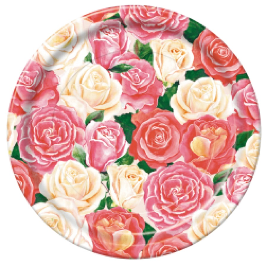 Набор одноразовой посуды Bulgaree Green Розовый букет, разноцветный
