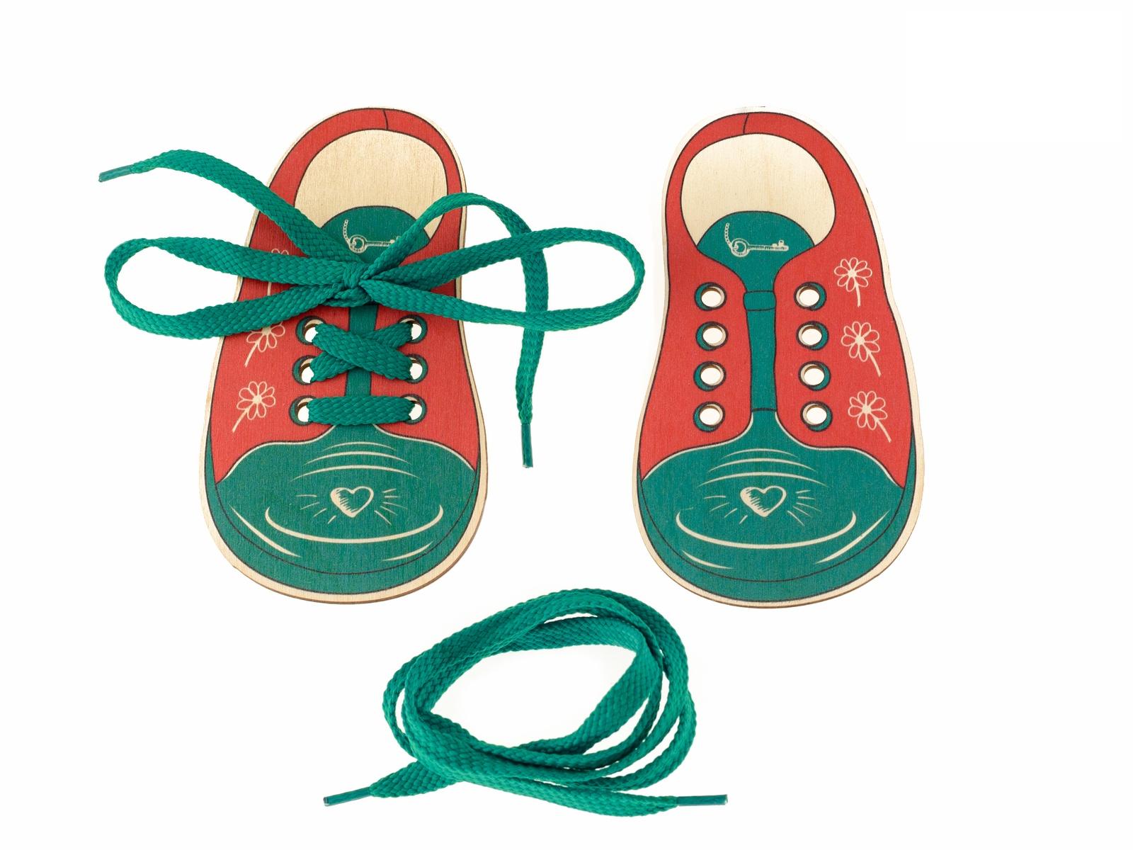 Шнуровка Анданте Д425а красный, зеленый