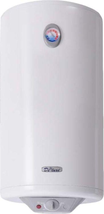 Водонагреватель DeLuxe 3W80VH1, накопительный, белый водонагреватель накопительный deluxe w 80 v1