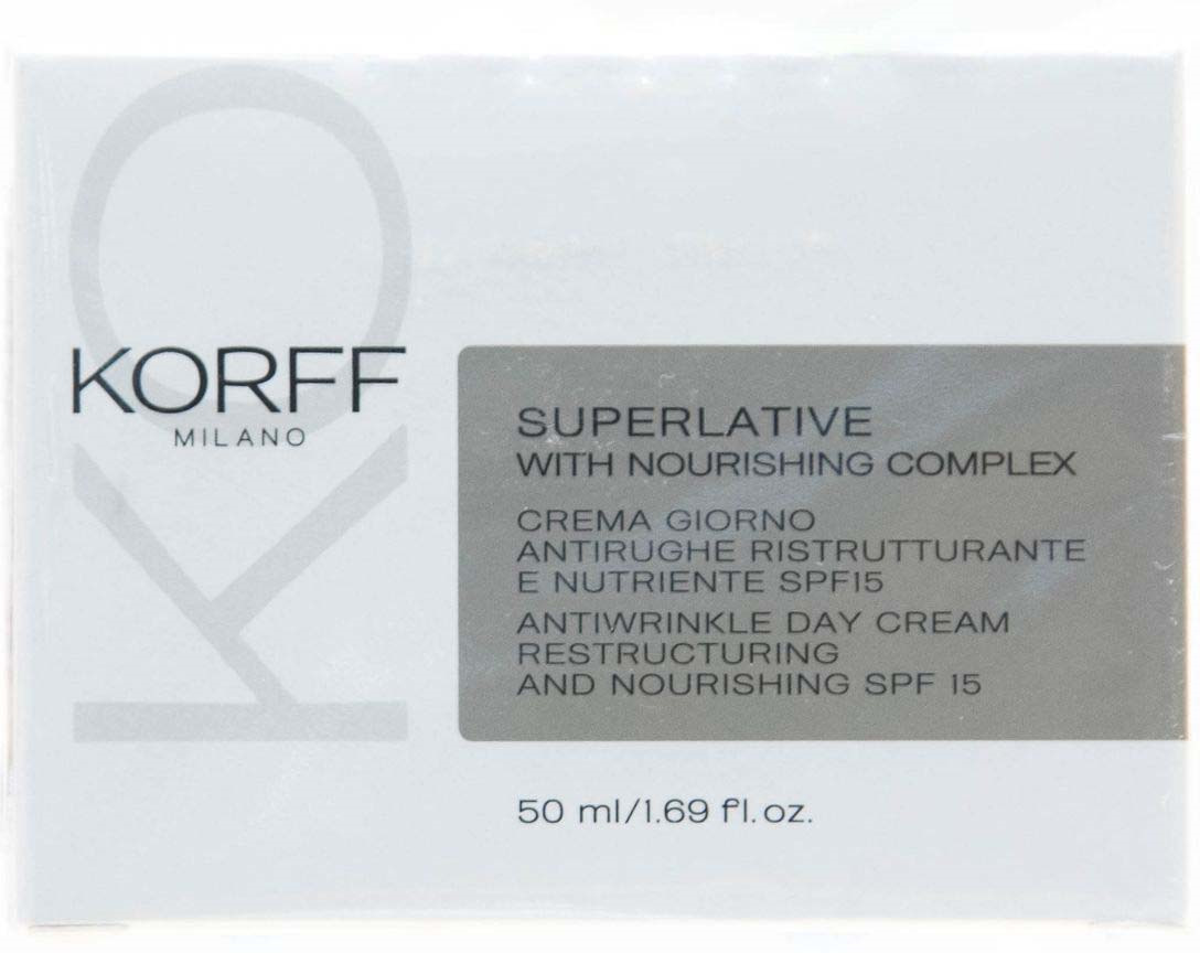 Дневной крем против морщин Korff Суперлайтив, Spf 15, 50 мл сыворотка эликсир против морщин korff суперлайтив 15 мл
