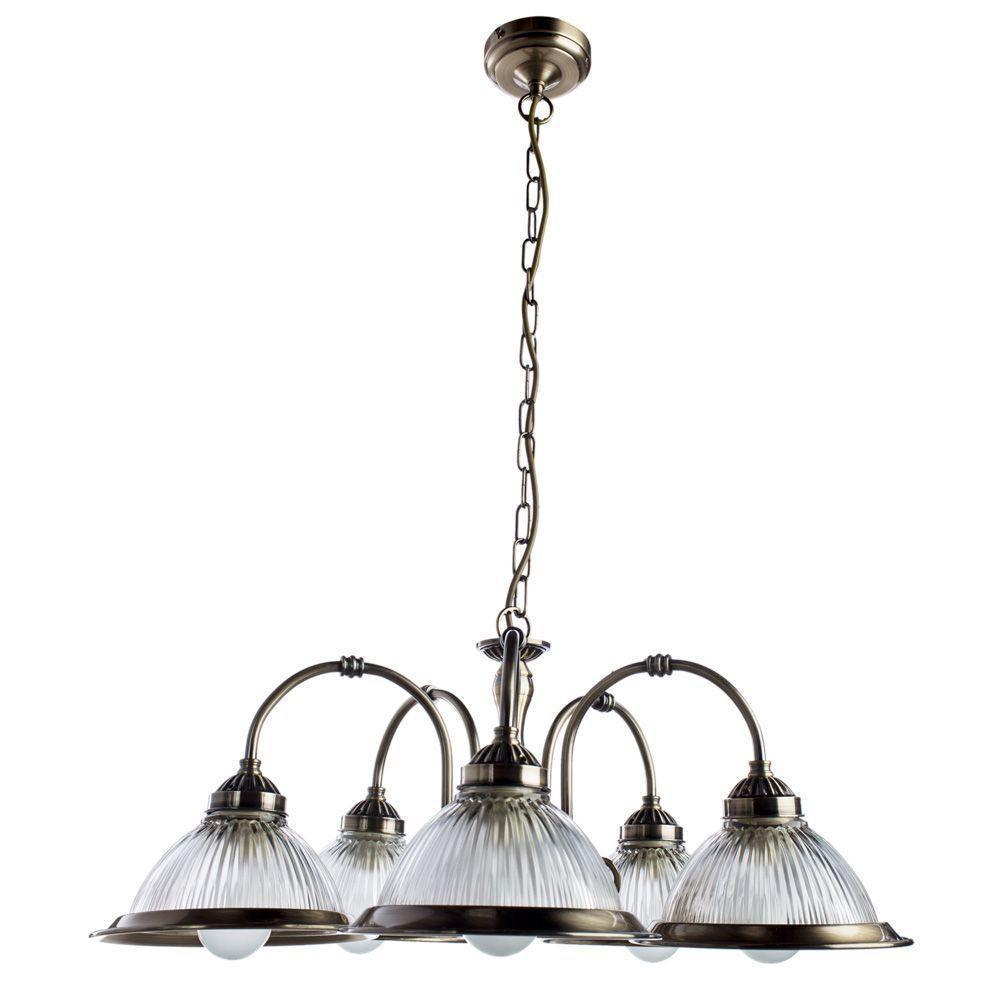 Подвесной светильник Arte Lamp A9366LM-5AB, бронза подвесная люстра arte lamp american diner a9366lm 5ab