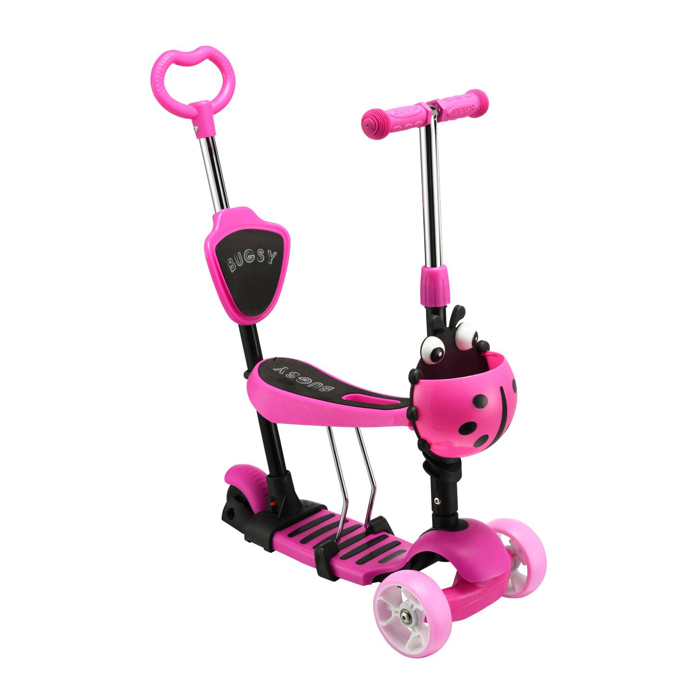 Самокат RGX BUGSY LED, розовый самокат rgx mini led pink розовый