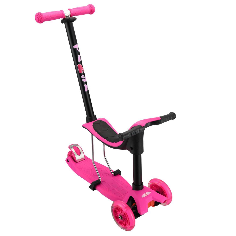 Самокат RGX TINSY LED, розовый самокат rgx mini led pink розовый