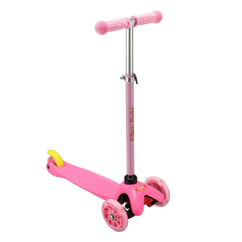 Самокат RGX ZIG-ZAG LED, розовый самокат rgx mini led pink розовый