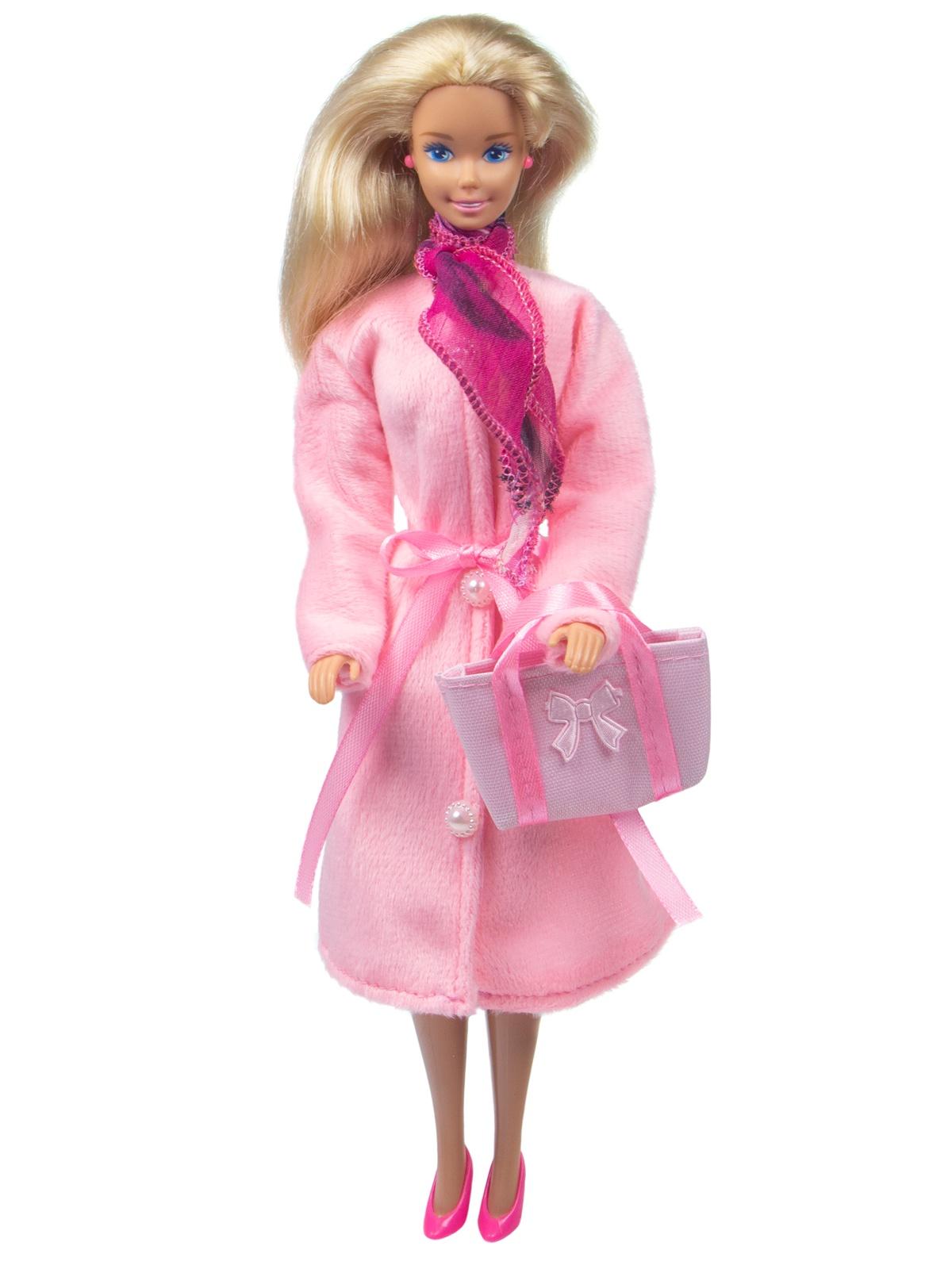 Одежда для кукол Модница Демисезонное пальто для кукол 29 см розовый