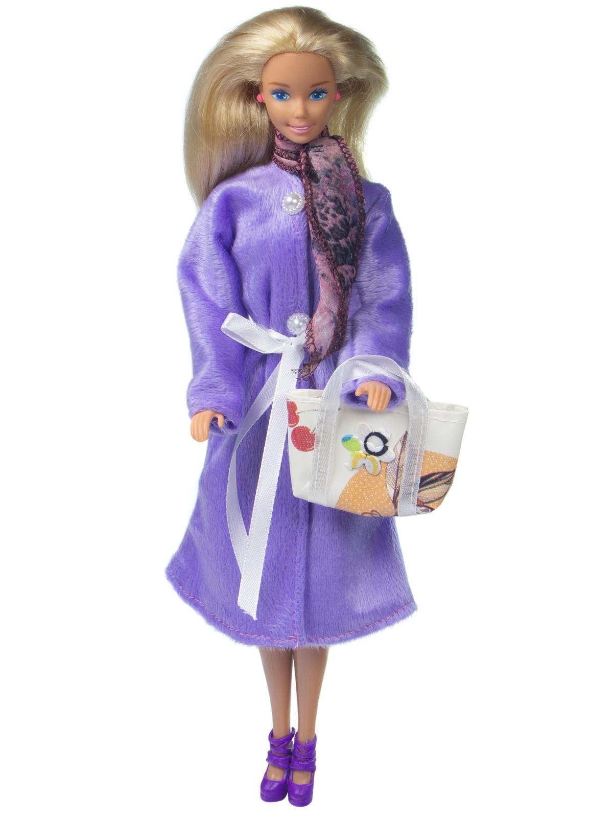 Одежда для кукол Модница Демисезонное пальто для кукол 29 см сиреневый