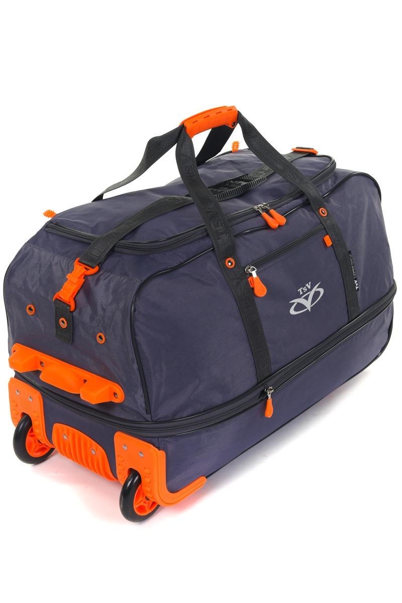 Сумка дорожная TSV 445.20, серый, оранжевый