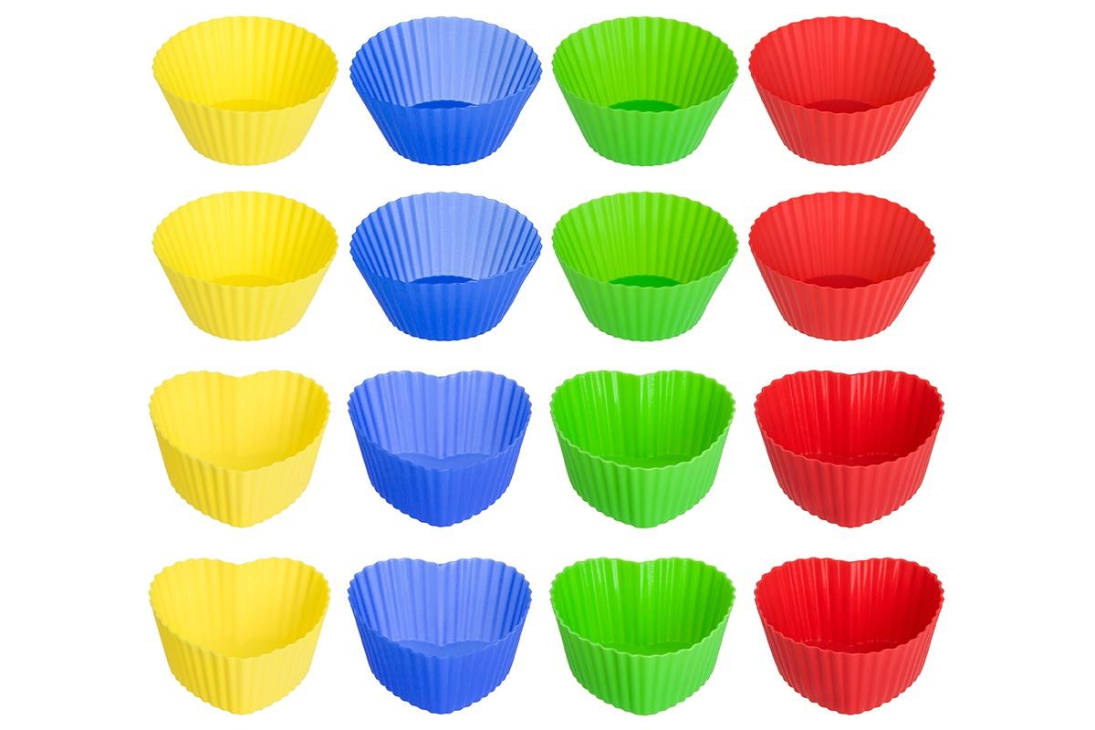 Форма для кексов силиконовая Elan Gallery 7 см. 16 штук