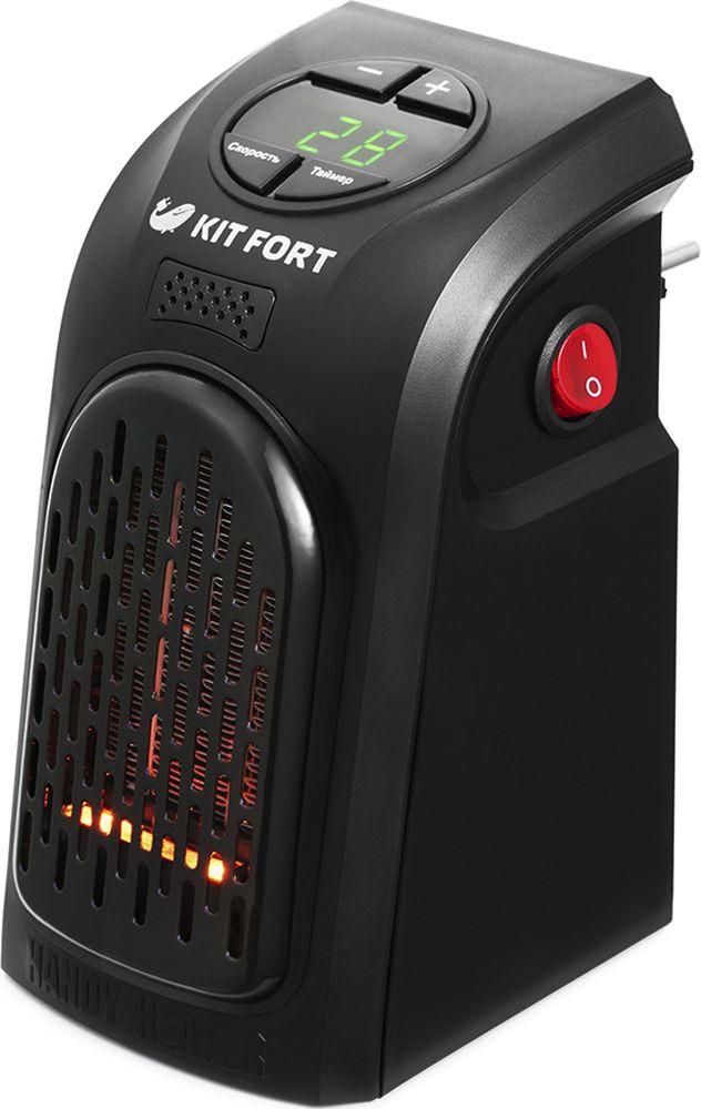 Электрообогреватель Kitfort КТ-2701, черный отопительный прибор usb