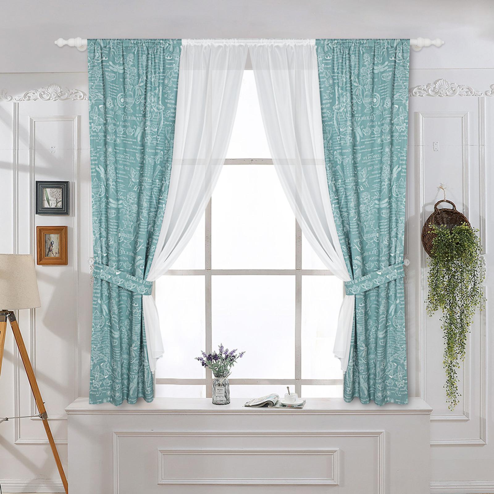 Комплект штор ТД Текстиль Botany 2, 27014, бирюзовый