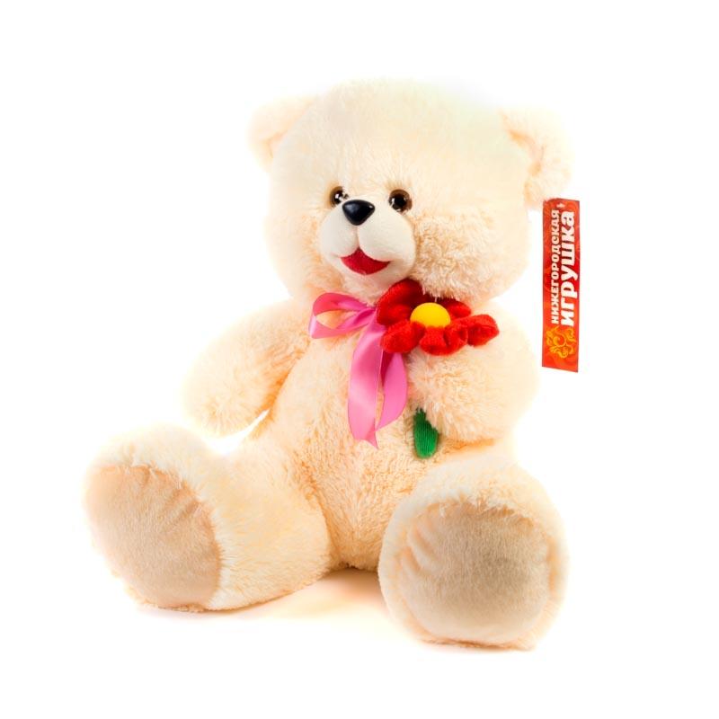 Мягкая игрушка Медведь с цветком Нижегородская Игрушка См-324-ц-5