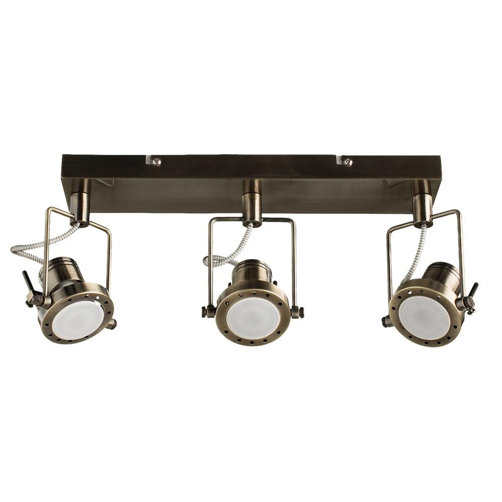 Настенно-потолочный светильник Arte Lamp A4300PL-3AB, GU10, 50 Вт arte lamp потолочный светильник arte lamp a4300pl 4ab