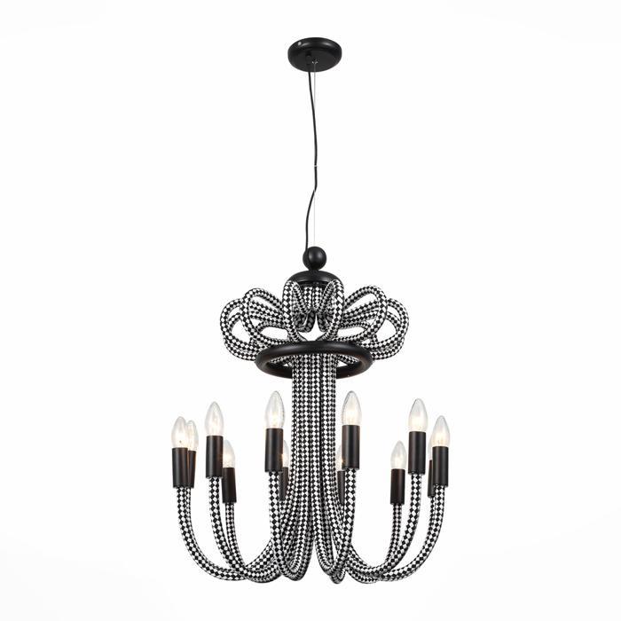 Подвесной светильник St Luce SL811.703.12, черныйSL811.703.12Подвесная люстра St Luce SL811.703.12 серии Adagio в стиле модерн даст комфортный свет в комнате. Размеры (Диаметр х Высота) 560х680 мм.