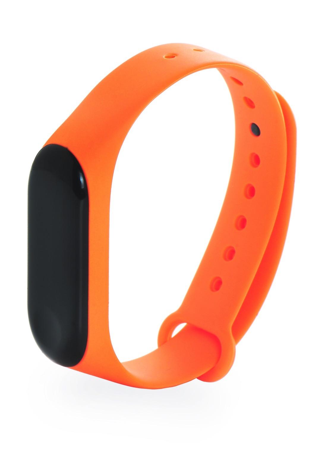 Ремешок для смарт-часов Gurdini силиконовый 908135 для фитнес браслета Xiaomi Mi Band 3/Mi Band 4, оранжевый цена и фото