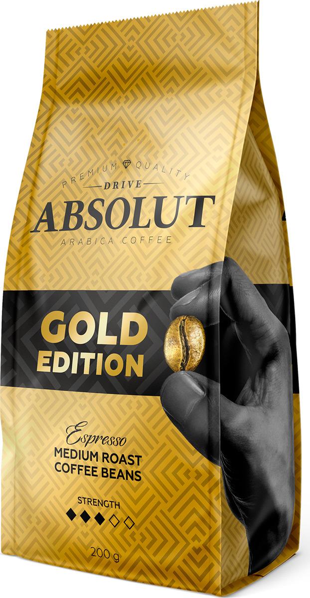 Кофе зерновой Absolut Drive Gold Edition, 200 г