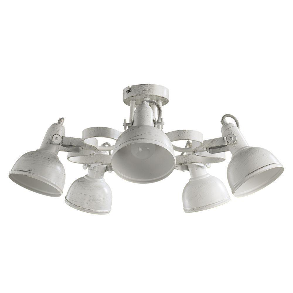купить Потолочный светильник Arte Lamp A5216PL-5WG, белый по цене 14650 рублей