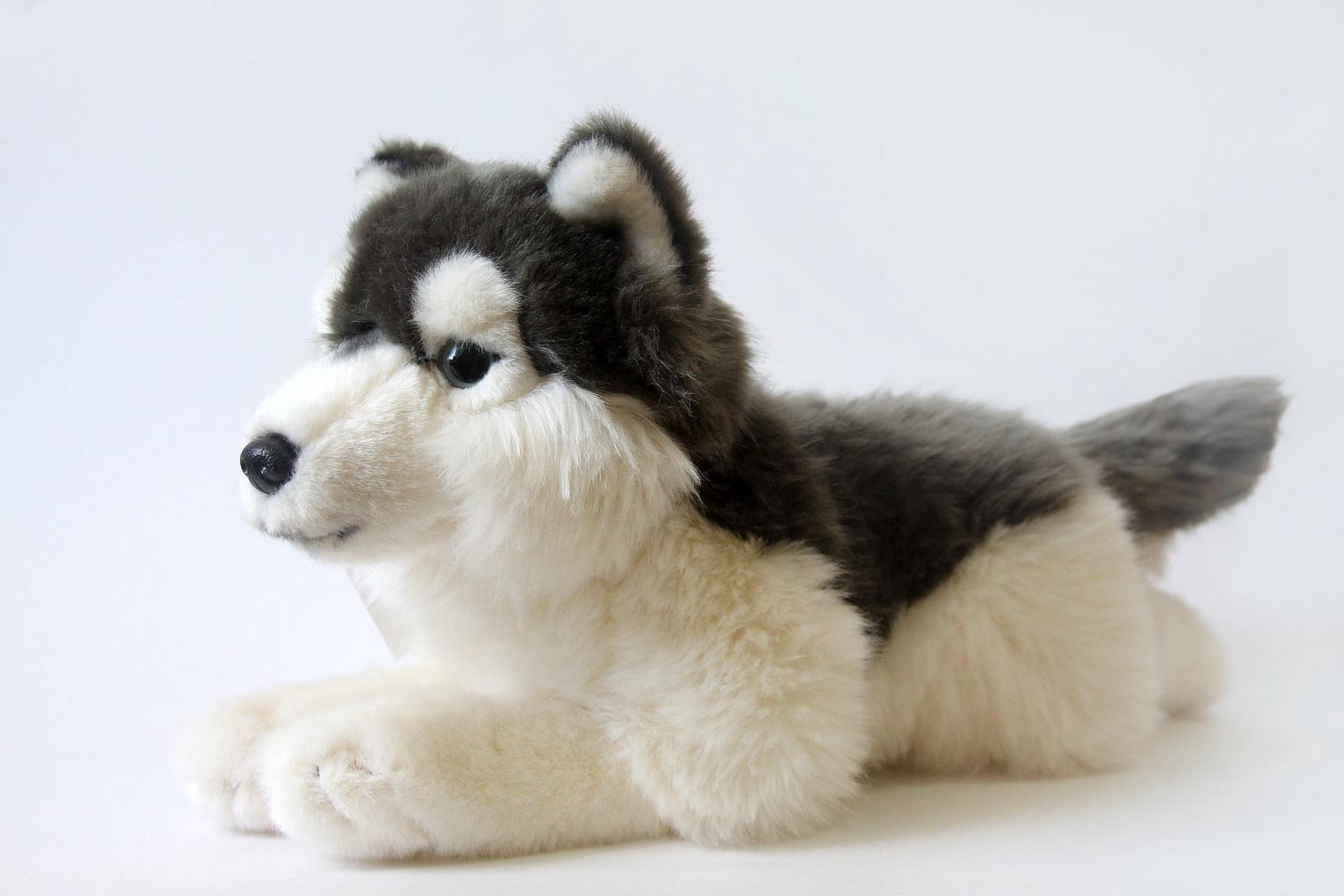 Мягкая игрушка Leosco Хаски серый