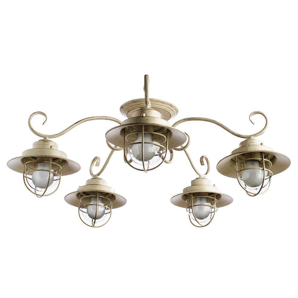 купить Потолочный светильник Arte Lamp A4579PL-5WG, белый по цене 12800 рублей