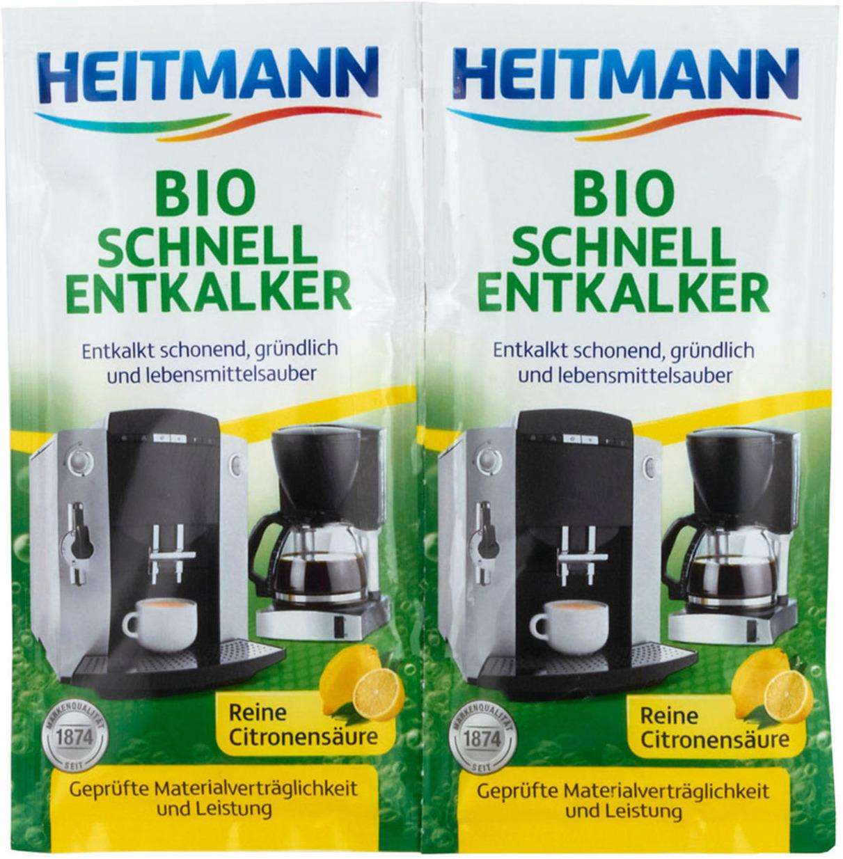 Специальное чистящее средство Heitmann Экспресс Био, очиститель накипи, 3362, 25 г х 2 шт