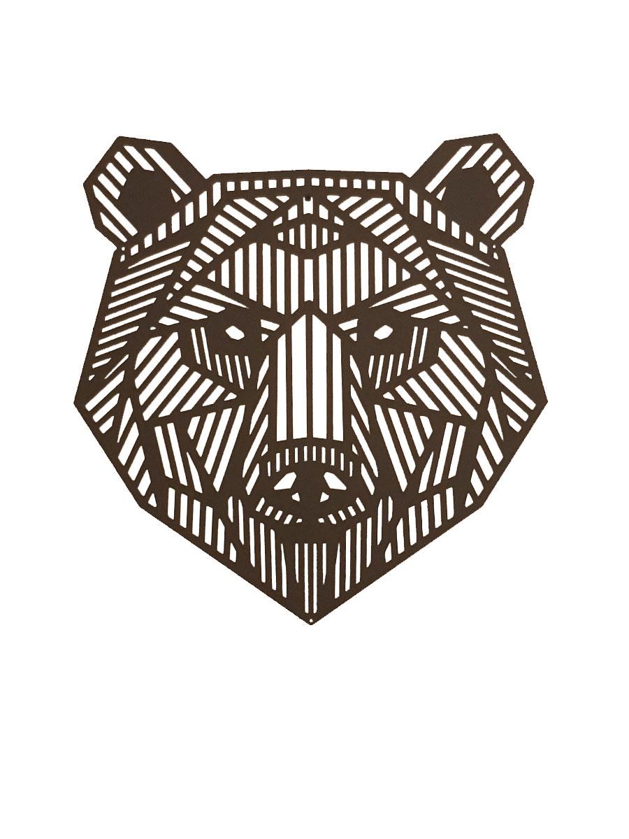 Декоративное панно Медведь, черный