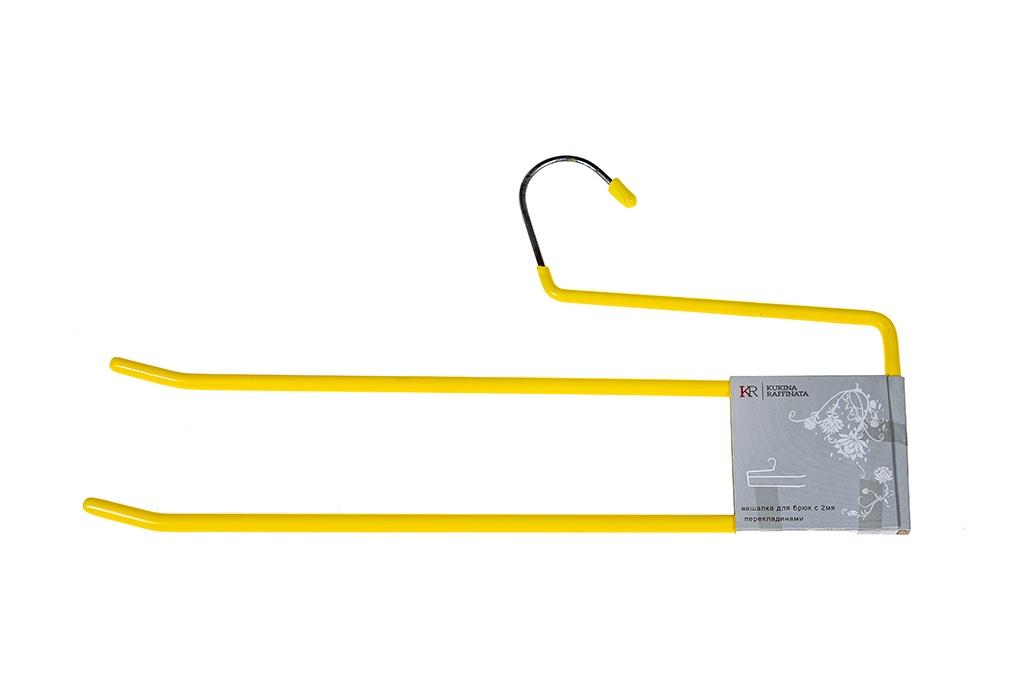 Вешалка Kukina Raffinata Duet101336-2Металлическая вешалка с прорезиненным покрытием с двумя перекладинами для брюк. Благодаря прорезиненному покрытию, брюки крепко держатся на вешалке и не соскальзывают с нее. Идеальна для применения как в гардеробных общего пользования, так и для дома. Размер вешалки составляет 35 см.