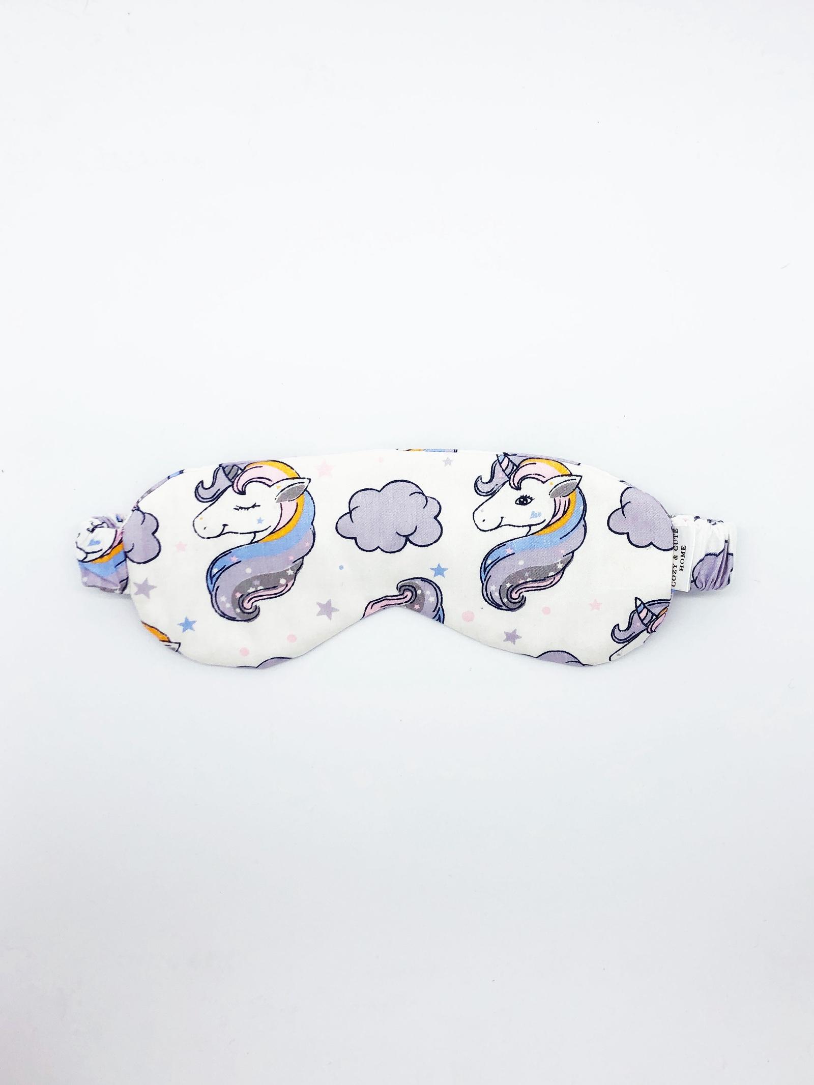 Маска для сна Cozy&Cute Home Единороги фиолетовые, белый, сиреневый