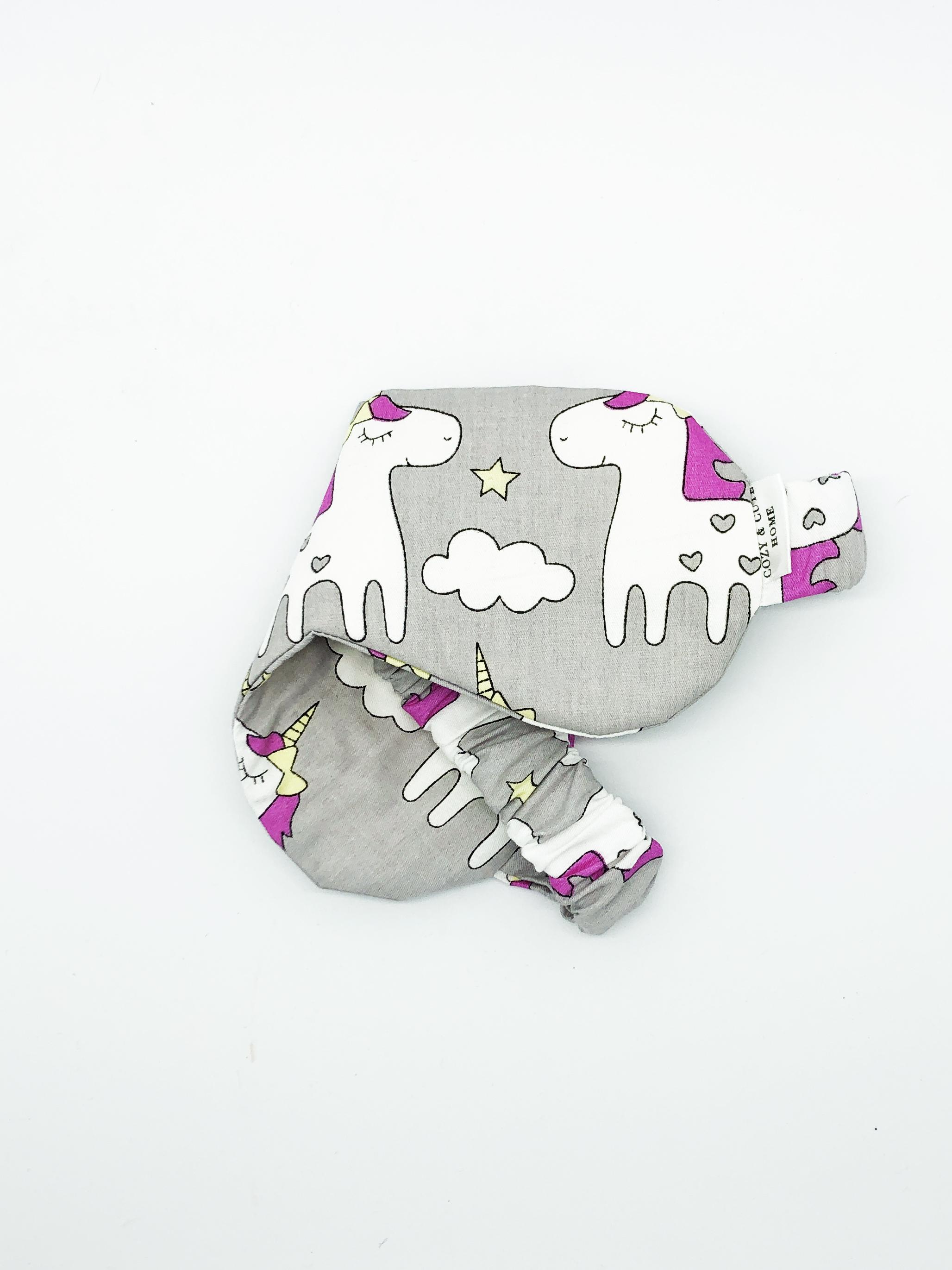 Маска для сна Cozy&Cute Home Единороги серые, серый