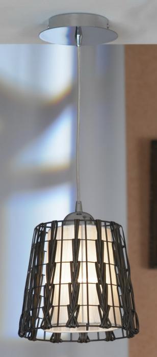 Подвесной светильник Lussole LSX-4176-01, серый металлик