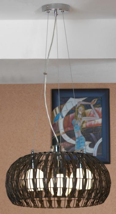 Подвесной светильник Lussole LSX-4173-03, серый металлик