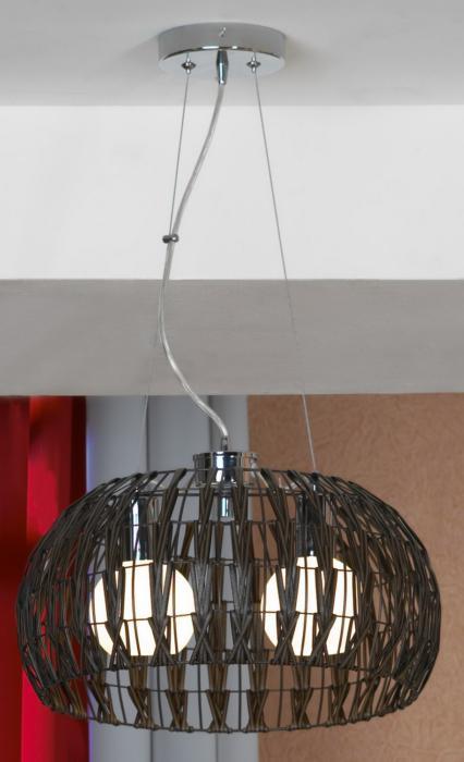 Подвесной светильник Lussole LSX-4173-02, серый металлик