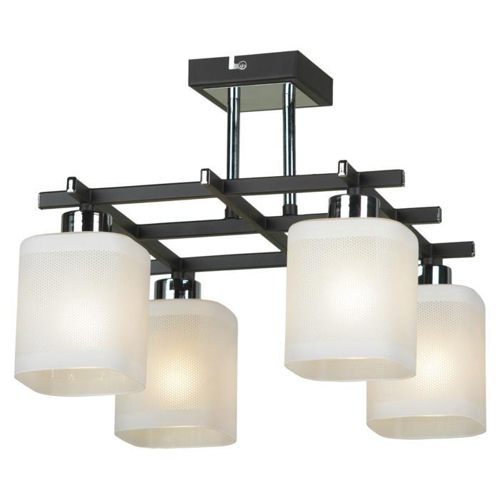Потолочный светильник Lussole LSL-9007-04, серый металлик потолочная люстра lussole costanzo lsl 9007 09