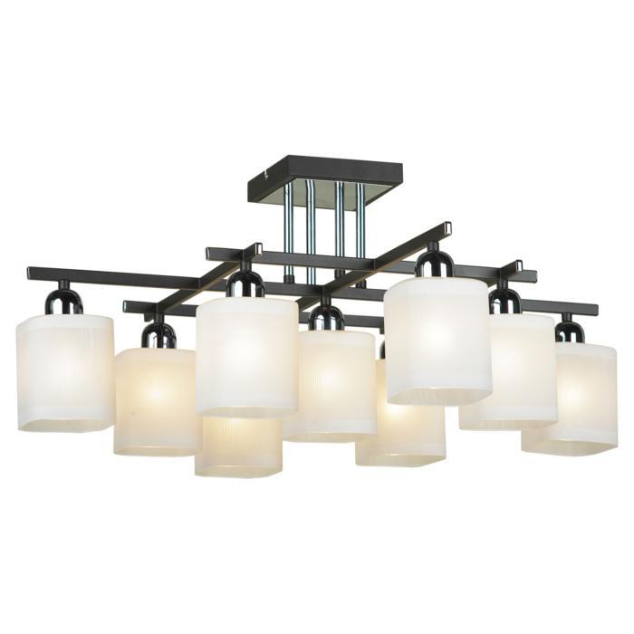 Потолочный светильник Lussole LSL-9007-09, серый металлик потолочная люстра lussole costanzo lsl 9007 09