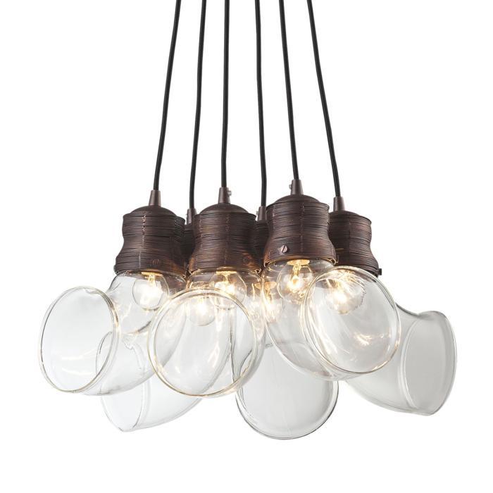 Подвесной светильник Lussole LSP-9627, коричневый подвесная люстра lussole fialco lsp 9627