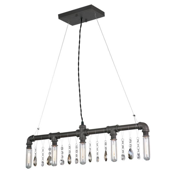 Подвесной светильник Lussole LSP-9375, черный lsp 9375 loft