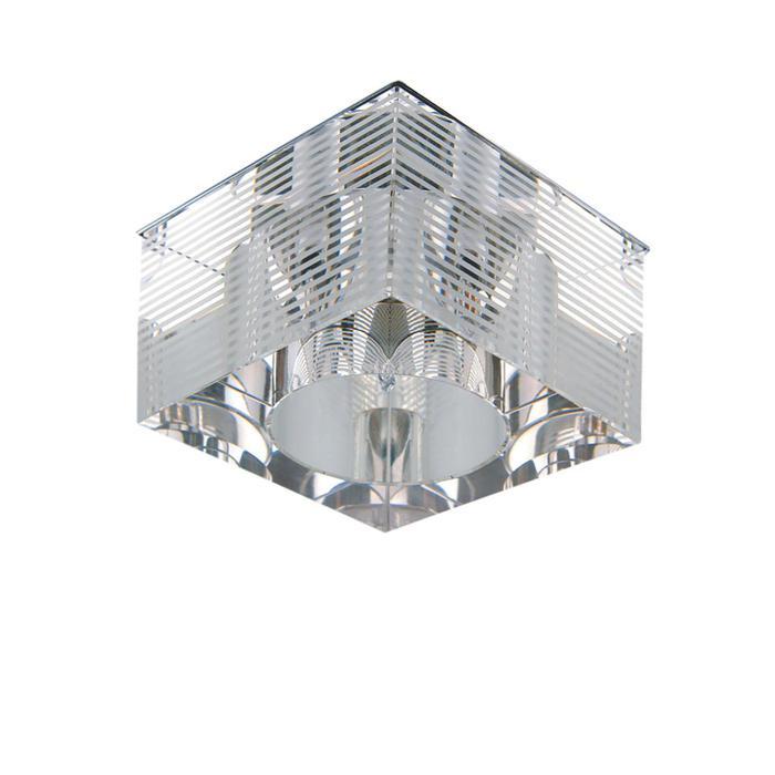 Встраиваемый светильник Lightstar 004055, серый металлик встраиваемый светильник lightstar qube 004050